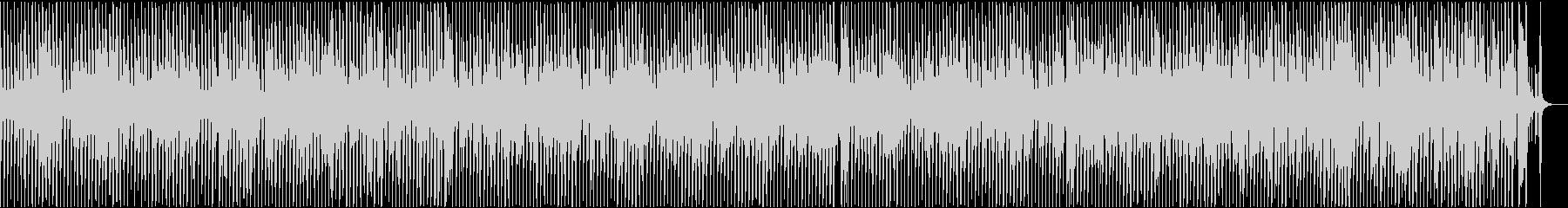 軽快なトランペットが特徴の映像用BGMの未再生の波形