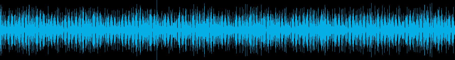 スペースディスコなハウスのループ音源の再生済みの波形