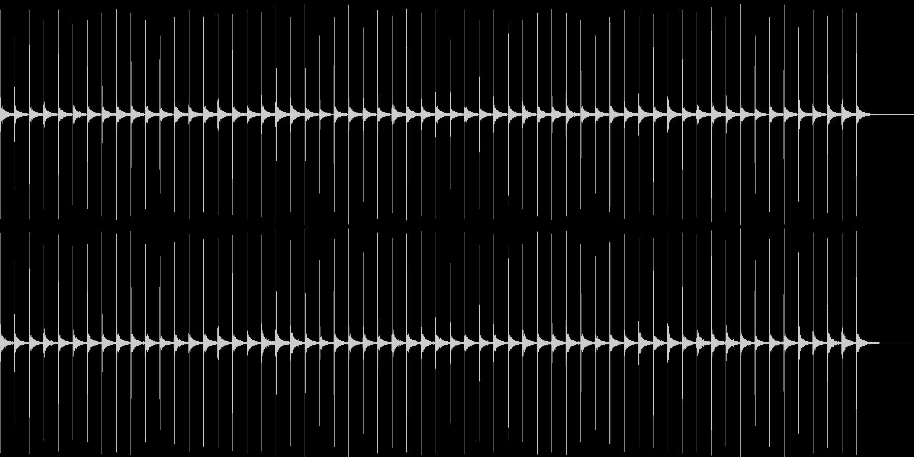 時計1 秒針 1分 エコーの未再生の波形
