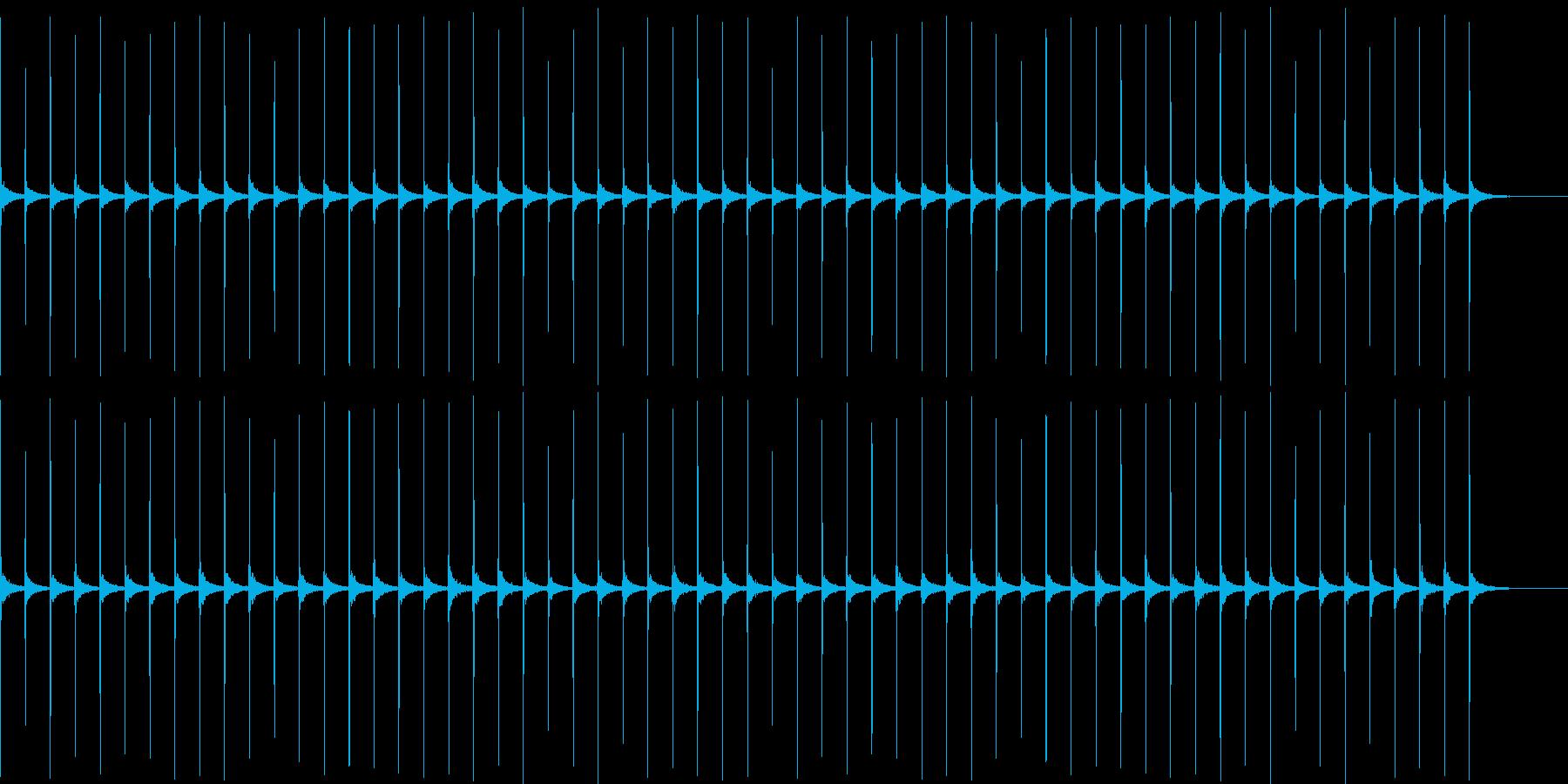 時計1 秒針 1分 エコーの再生済みの波形