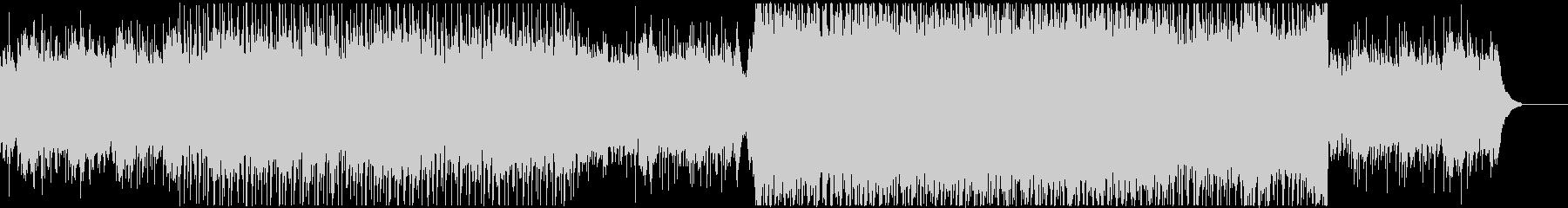透明感のあるエモーショナルなBGMの未再生の波形