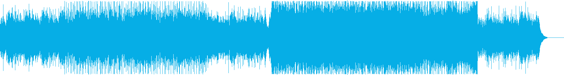 透明感のあるエモーショナルなBGMの再生済みの波形