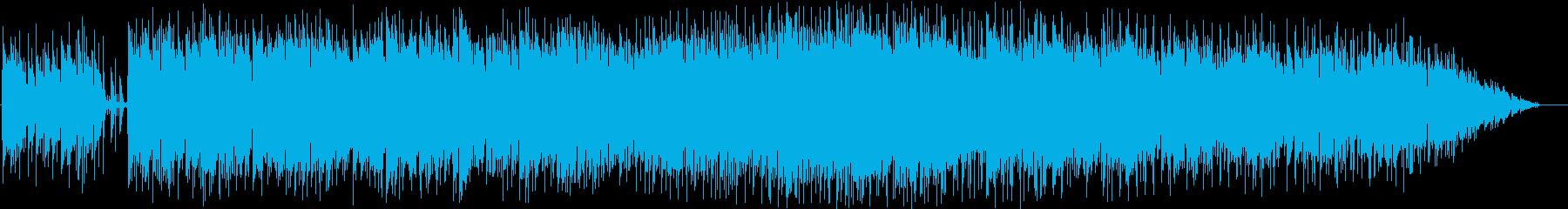 鍵盤ハーモニカがメロを吹くテクノポップの再生済みの波形
