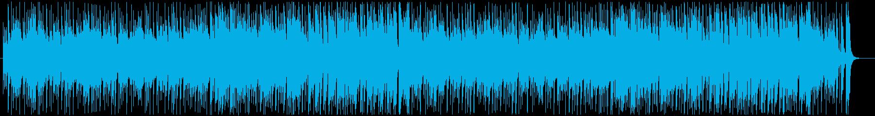日曜の午後系BGMの再生済みの波形