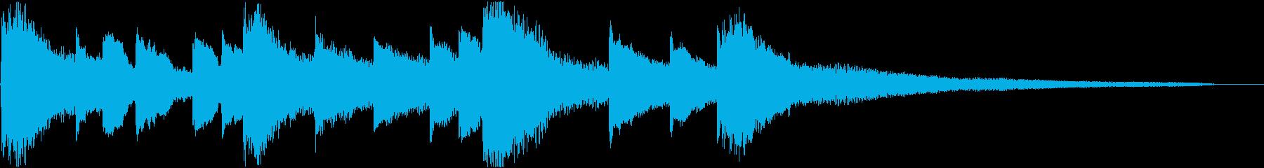 和風でゆったりした雰囲気のピアノジングルの再生済みの波形