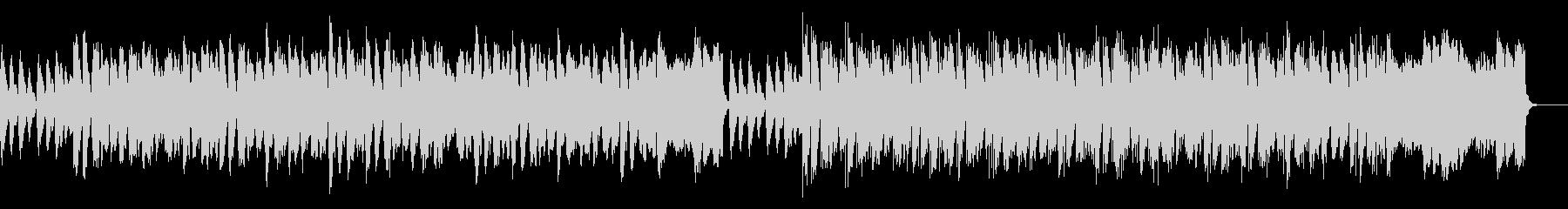 コミカルなBGMの未再生の波形