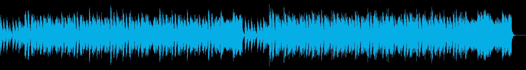 コミカルなBGMの再生済みの波形