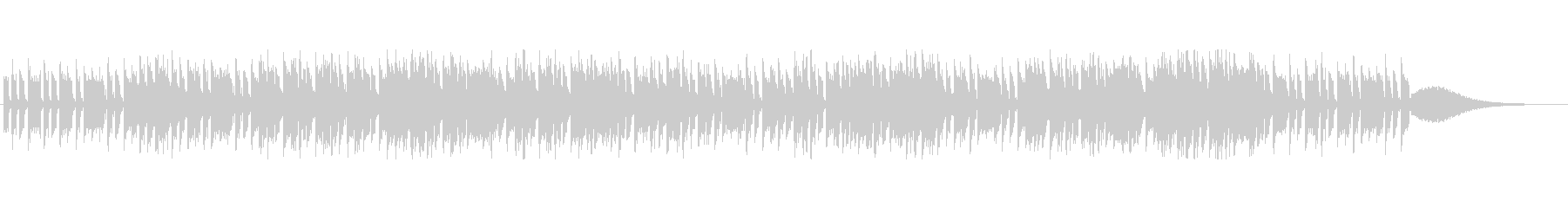 シューティングゲーム風のBGMの未再生の波形