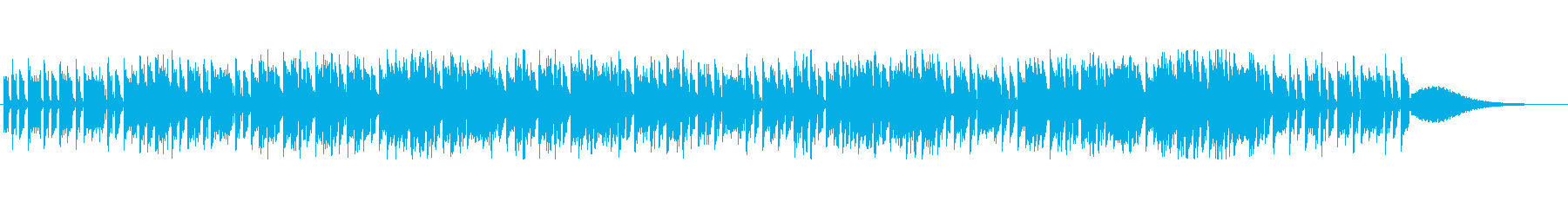 シューティングゲーム風のBGMの再生済みの波形