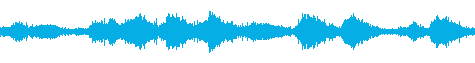 ループ再生用・波音・ビーチに寄せる波の再生済みの波形
