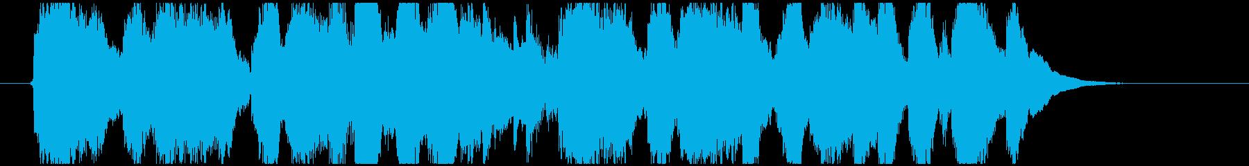 わくわく楽しげなオーケストラジングルの再生済みの波形