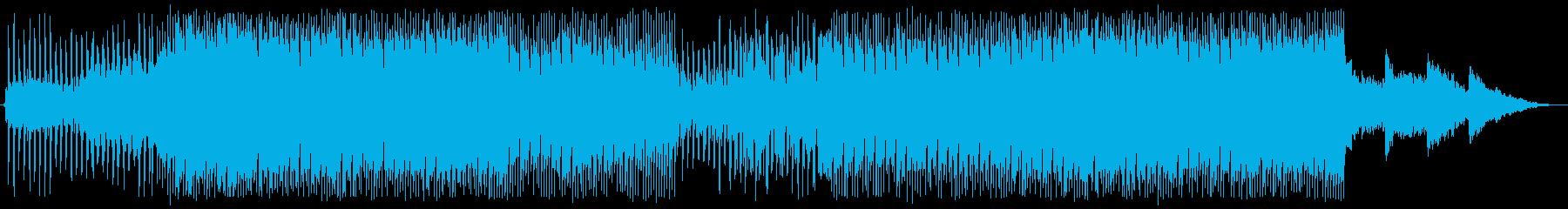 疾走感のあるSynthWaveの再生済みの波形