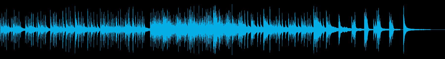 企業向キラキラピアノソロで透明感動的の再生済みの波形