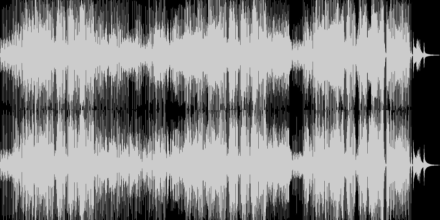 ユーモラスで軽快なジャズの未再生の波形