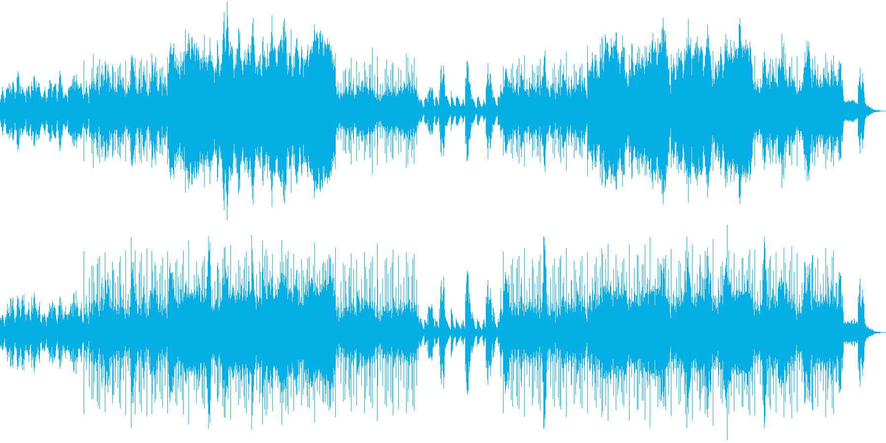 ピアノ リラックス 鳥 アイランド 癒しの再生済みの波形