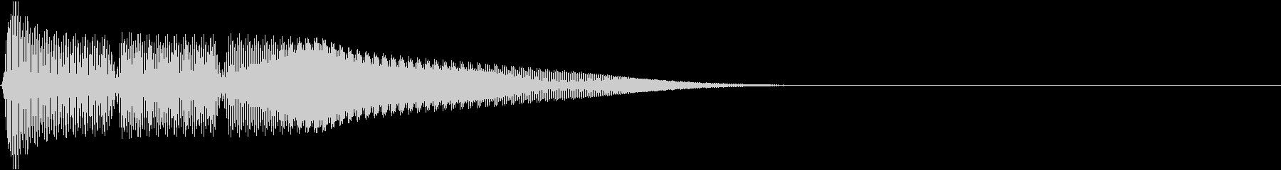 テレレー(電子小決定音)の未再生の波形