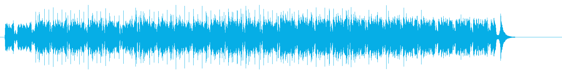 アンダーグラウンド・テクノ・ハウス風の再生済みの波形