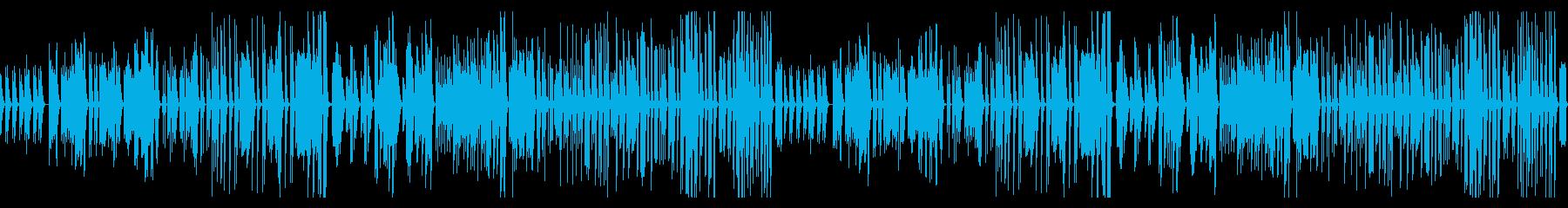 ゆったりシンプルですこしコミカルな曲の再生済みの波形