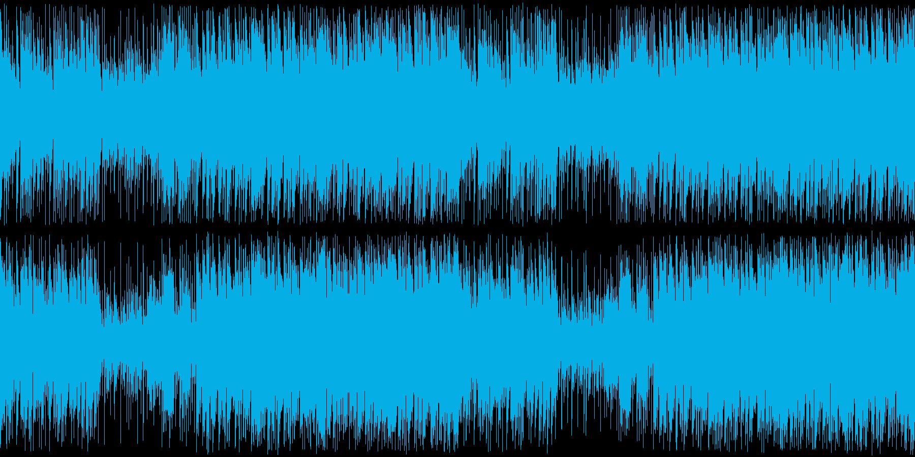 疾走感のある怪しい曲の再生済みの波形