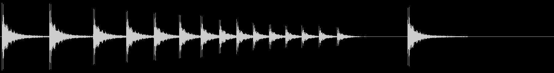 SE 柝(拍子木・きざみ)-1の未再生の波形