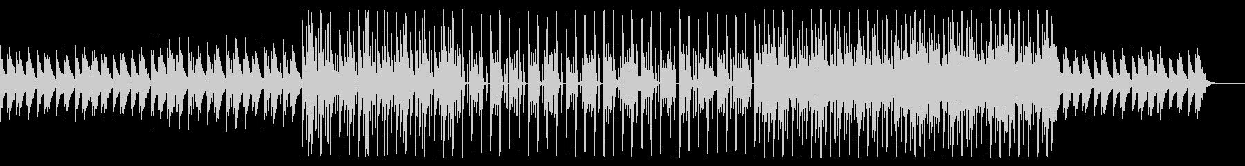 レトロな雰囲気の寂しげなテクノBGMの未再生の波形