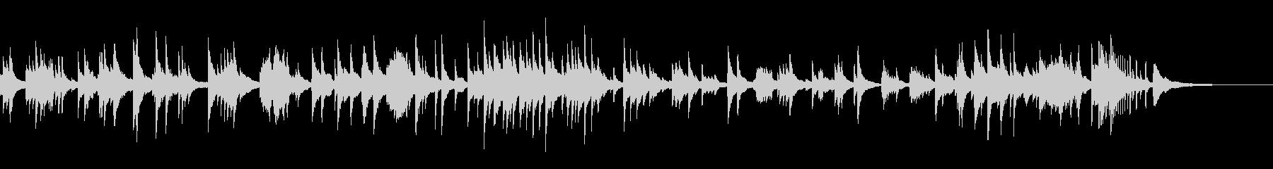 癒しのピアノソロ2の未再生の波形