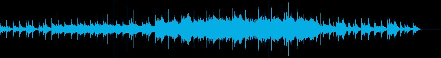 ピアノの音色とチープでかわいいシンセの曲の再生済みの波形