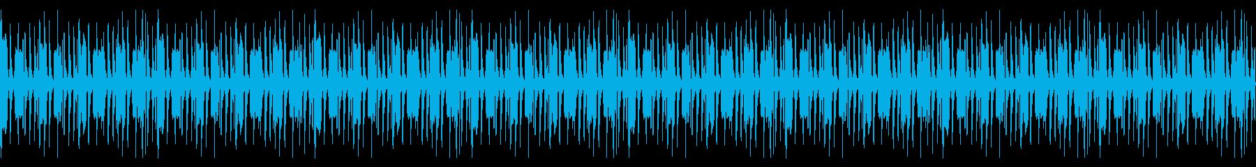 シンプルなHIPHOPのBGMの再生済みの波形