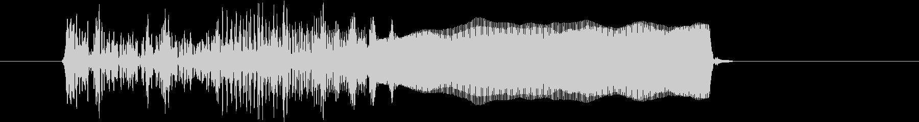 オルガンのグリッサンドの未再生の波形