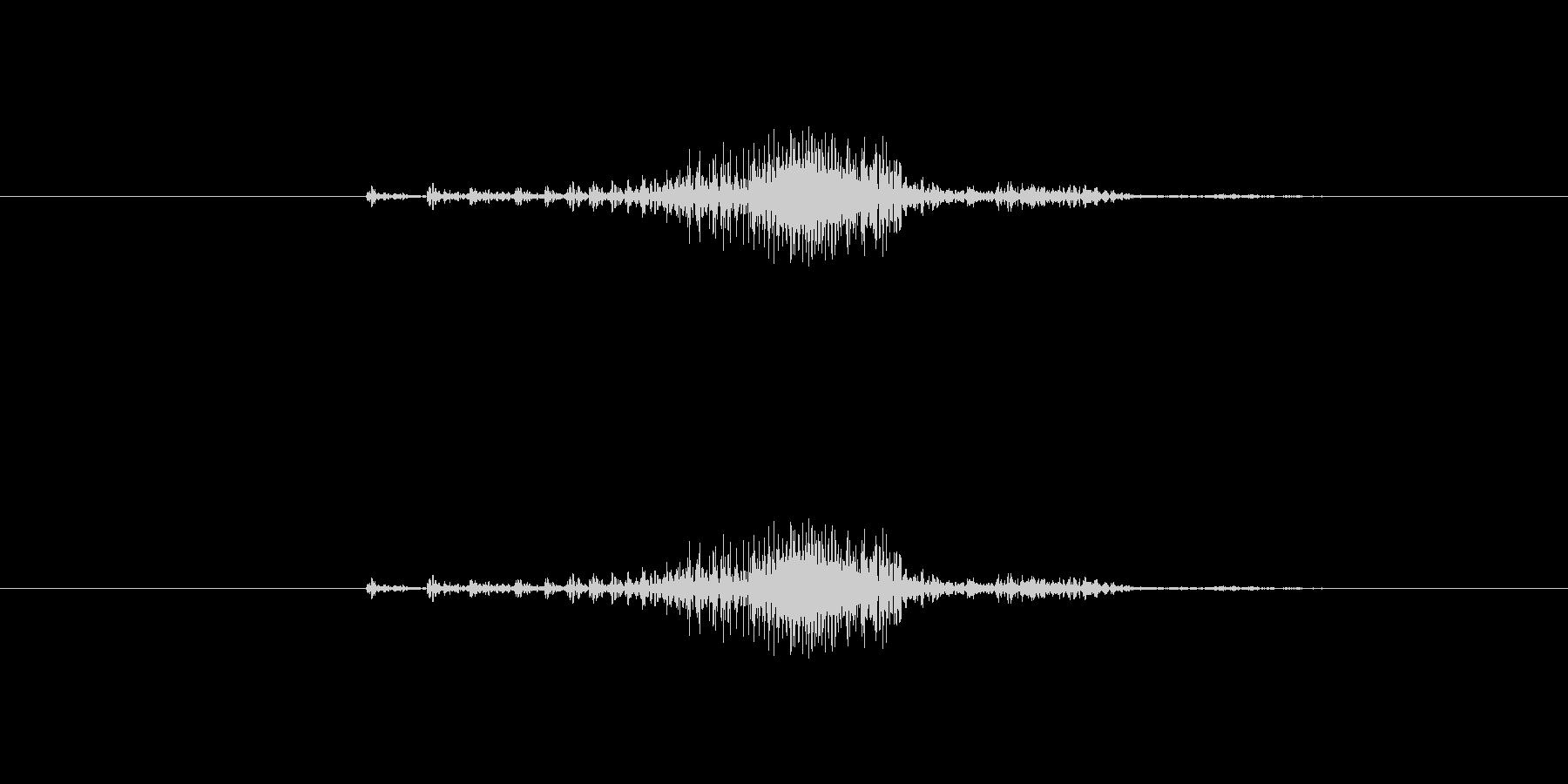 ジッパー音(速め)2の未再生の波形
