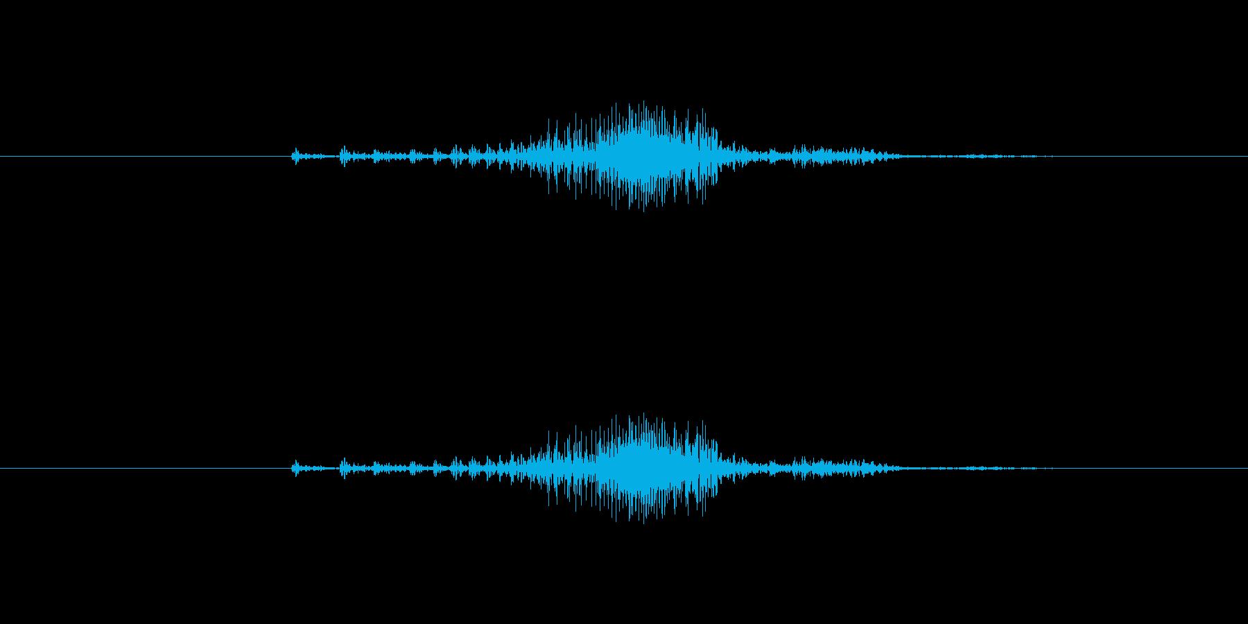 ジッパー音(速め)2の再生済みの波形