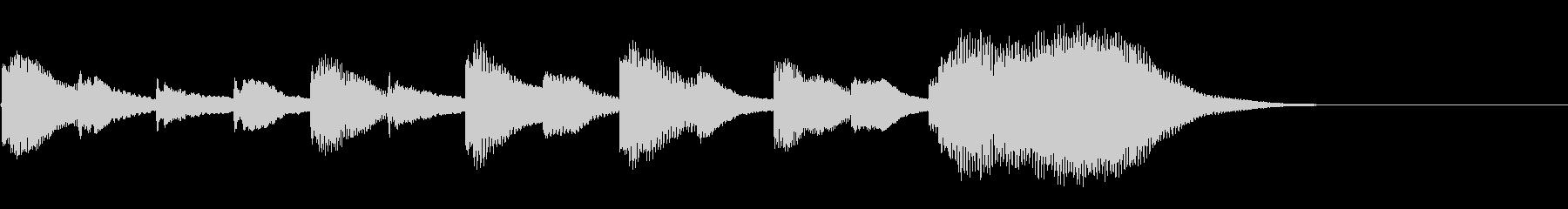 マリンバのアウトロの未再生の波形