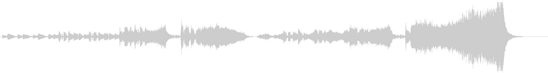 オーケストラのハッピーバースデー 2番の未再生の波形