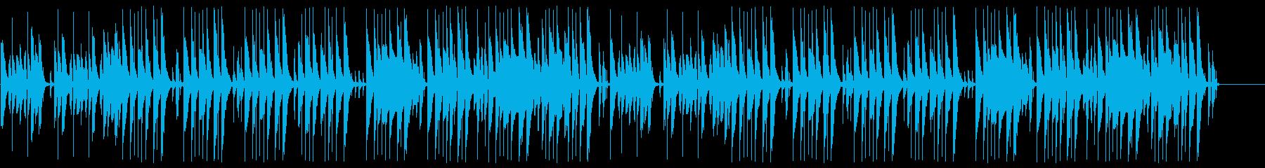 間の抜けたゆるい雰囲気のコミカルなBGMの再生済みの波形