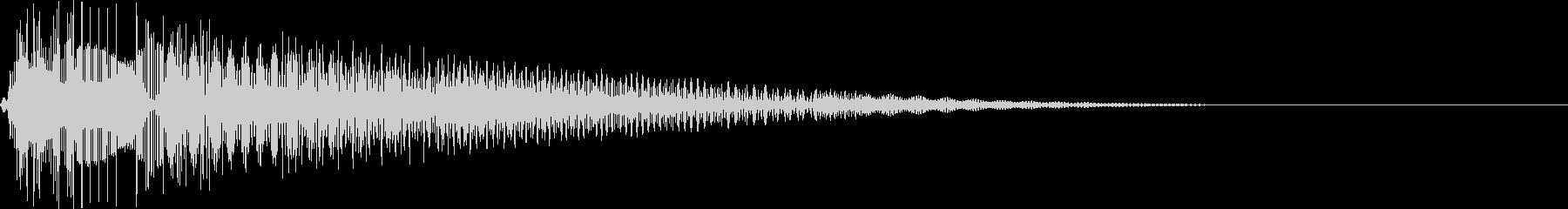 ピュン!(かわいい/ピコピコ音/ショットの未再生の波形