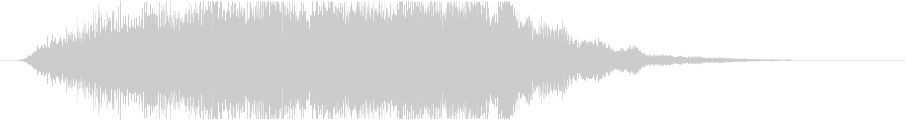 ダークな雰囲気のサウンドロゴ(ジングル)の未再生の波形