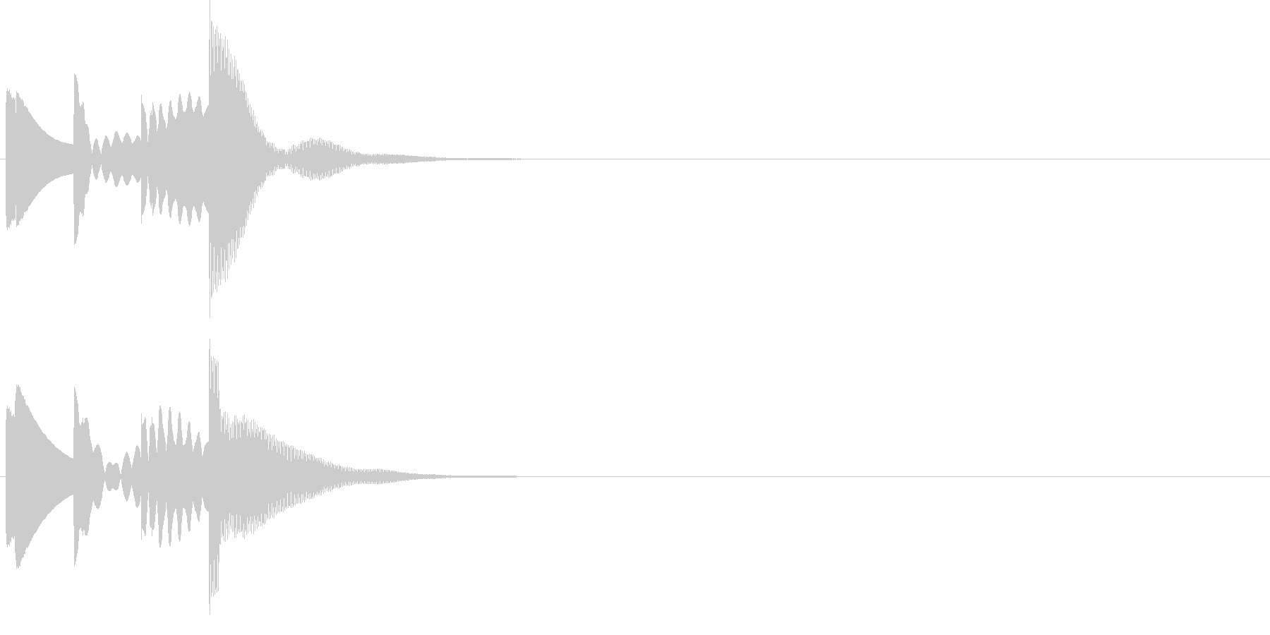 ポロロロン。メール着信音(シンプル)の未再生の波形