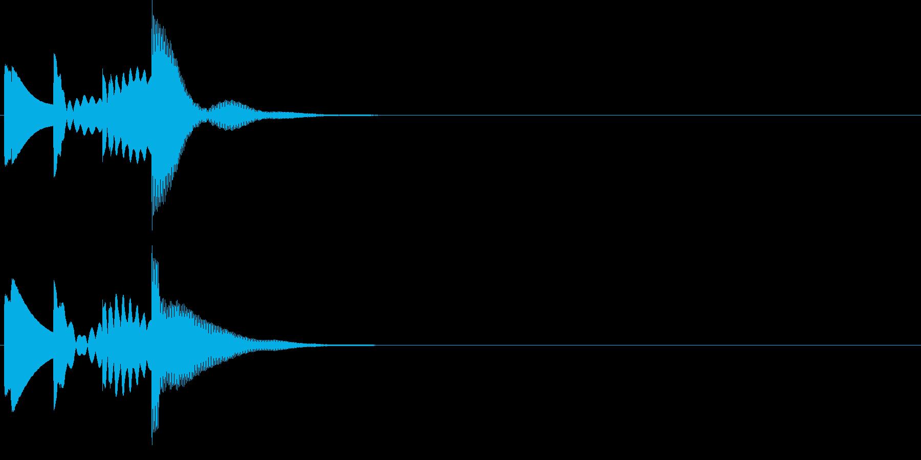 ポロロロン。メール着信音(シンプル)の再生済みの波形