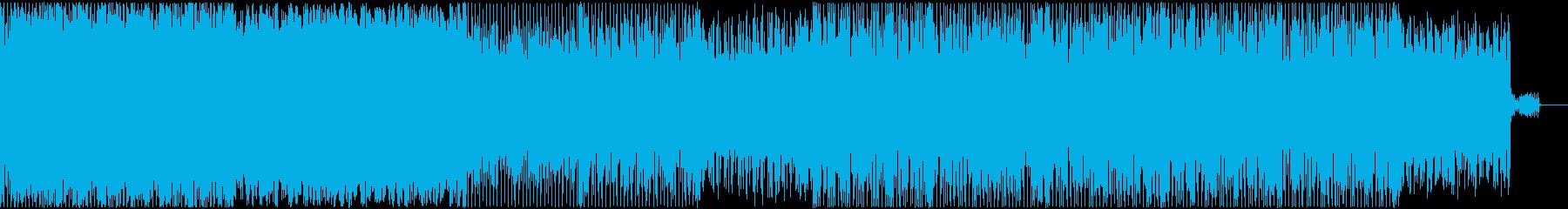 不思議な感じのアンビエントソングの再生済みの波形