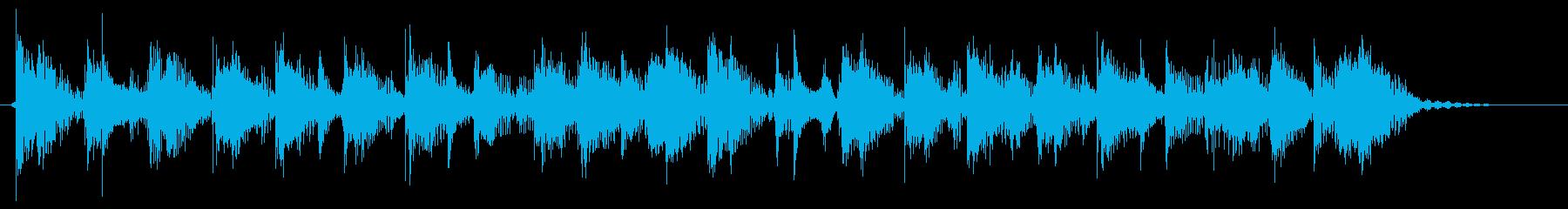 ファンクなジングル チャカポコしたギターの再生済みの波形