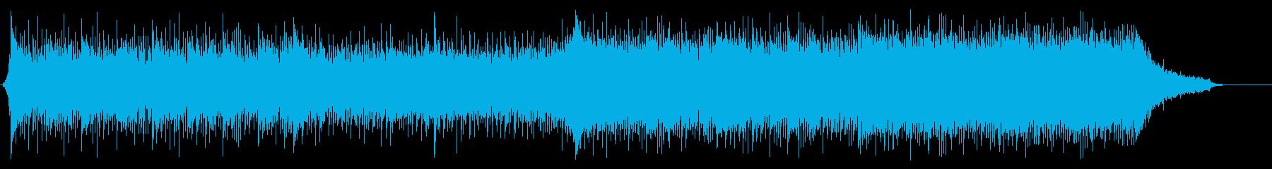重厚でスピード感のあるシネマティック曲の再生済みの波形