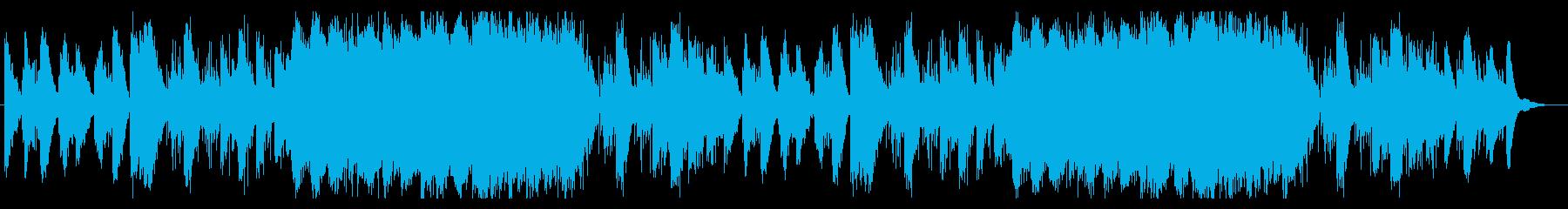 冒険の旅をイメージした切ない曲の再生済みの波形
