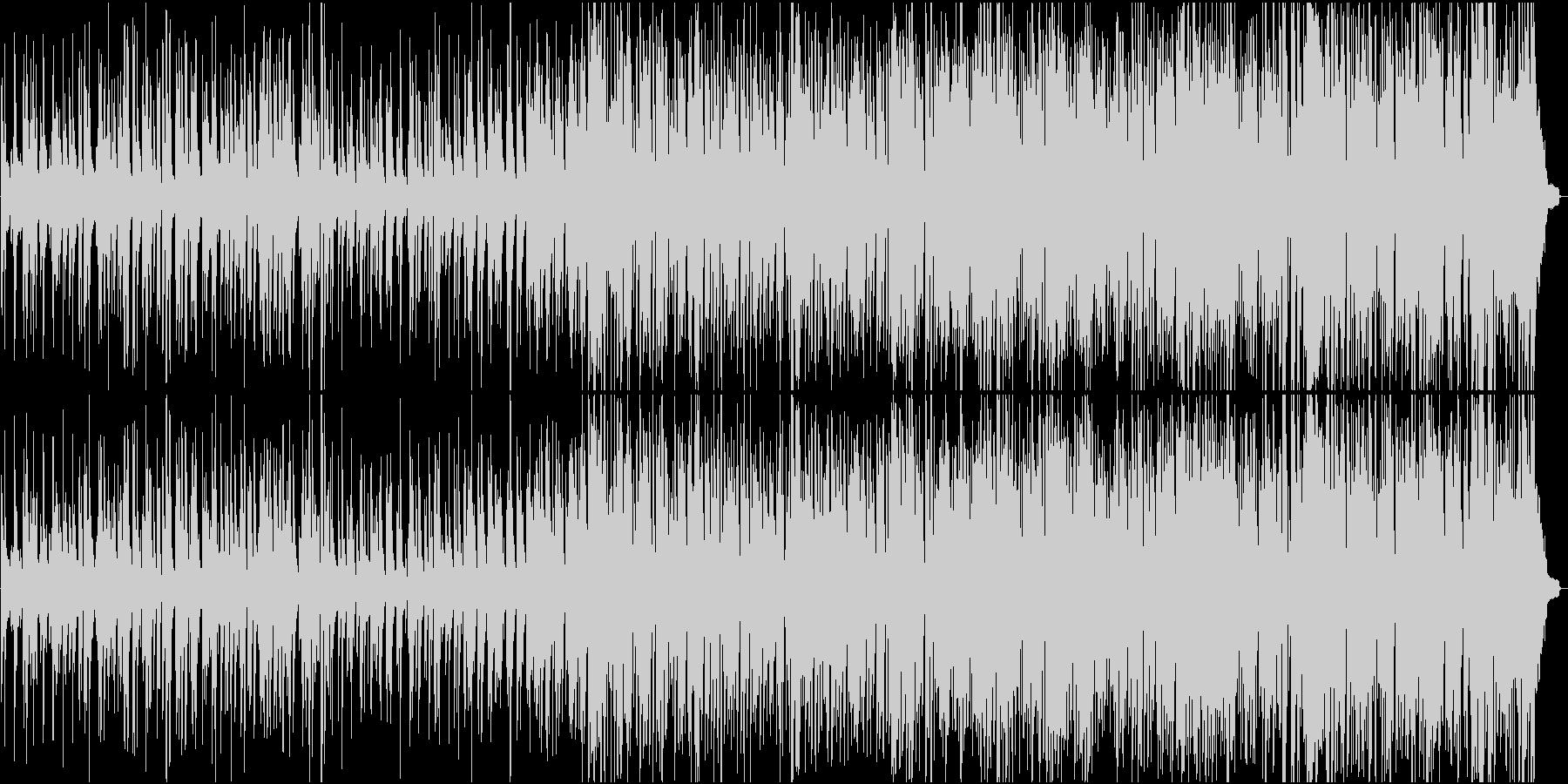 ピアノとドラムベースのトラッドジャズの未再生の波形