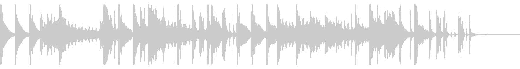 シンコペーションエレクトロポップの未再生の波形