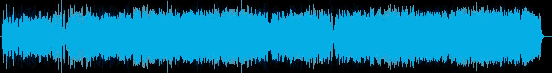 優しい印象シンセサイザーポップの再生済みの波形