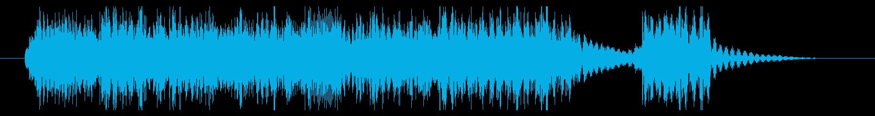 ジングルやタイトルに最適なヘヴィロックの再生済みの波形