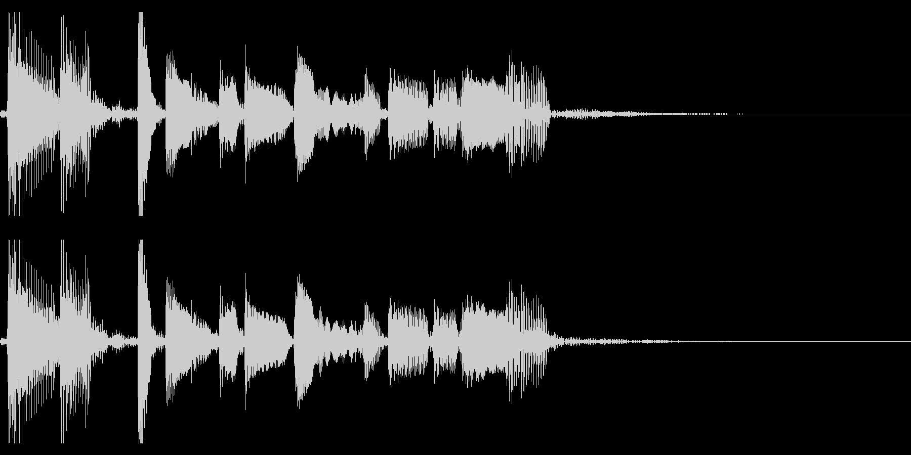 生演奏アコギのジングル11ブルースの未再生の波形