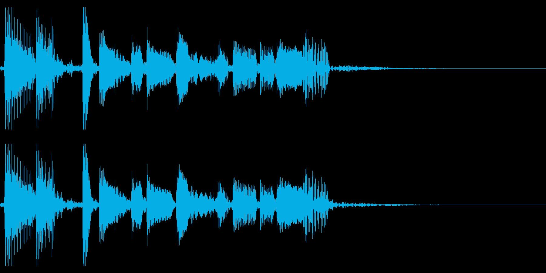 生演奏アコギのジングル11ブルースの再生済みの波形