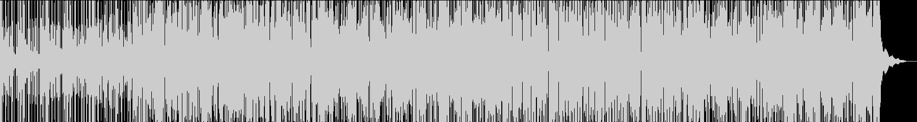 爽やかでシャープなグルーブのBGMの未再生の波形