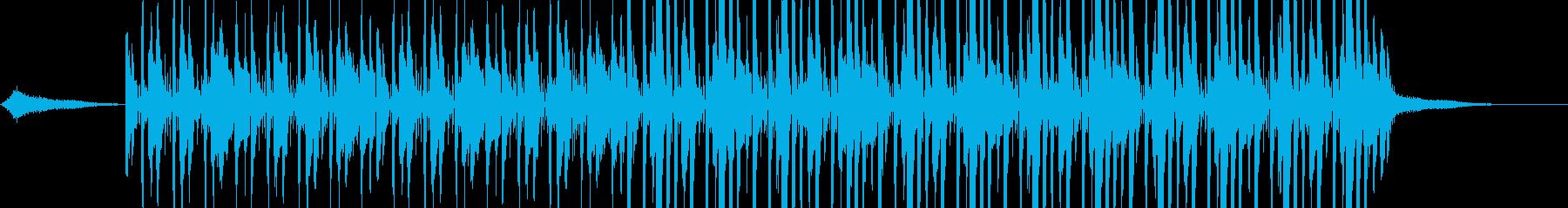 コメディーチックな悲しい曲の再生済みの波形